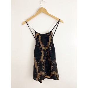 NWT BKE Buckle Black Lace Halter Top
